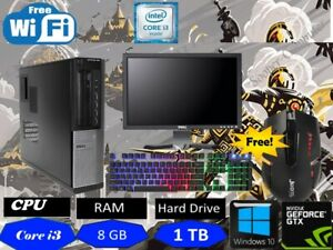 GIOCO-VELOCE-PC-DELL-Bundle-Set-Completo-Computer-Intel-i3-8GB-1TB-Tastiera-Gaming
