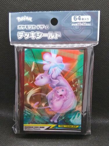 Pokemon center JAPAN 64 Sleeves Mew /& Mewtwo card Deck Shields