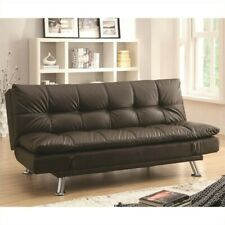 Super Dhp Delaney Sofa Sleeper In Rich Faux Leather Machost Co Dining Chair Design Ideas Machostcouk