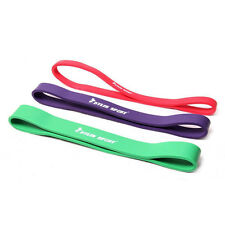 Set of 3 Heavy Duty Band Loop Resilience GYM Fitness Exercise Workout Elastic