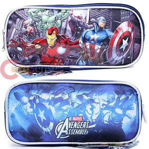 Marvel Avengers Heroes Pencil Case Accessory Case Bag Iron man Hulk Thor Captain
