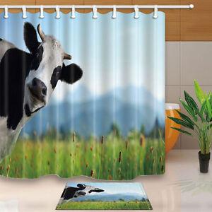 Image Is Loading Hot Cute Cows Shower Curtain Home Bedroom Waterproof
