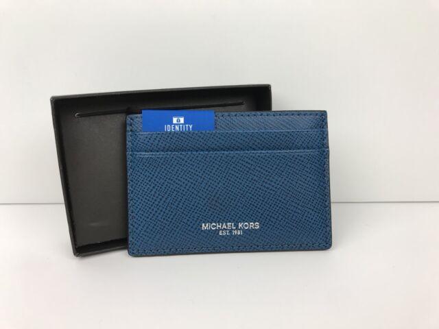 9e09d949b03388 Michael Kors Harrison Card Case Gray Mens Wallet ID Protection ...