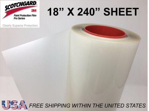 "Paint Protection Film Clear Bra 3M Scotchgard Pro Series 18/"" x 240/"" Sheet"