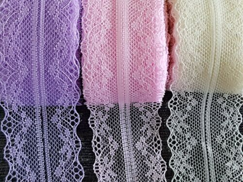 Vintage style Floral Lace Ribbon Trim 1M Craft-Wedding-Bridal-Cake  3 For 2
