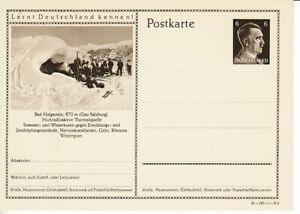 German-Reich-Stationery-P-304-Bad-Hofga-Stone-Skier