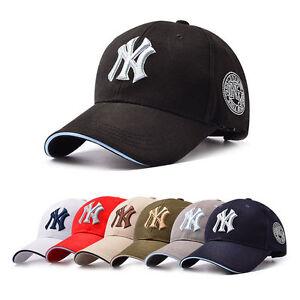 267bec16e25 Women Men NY Snapback Baseball Caps Casual Solid Adjustable Cap Bboy ...