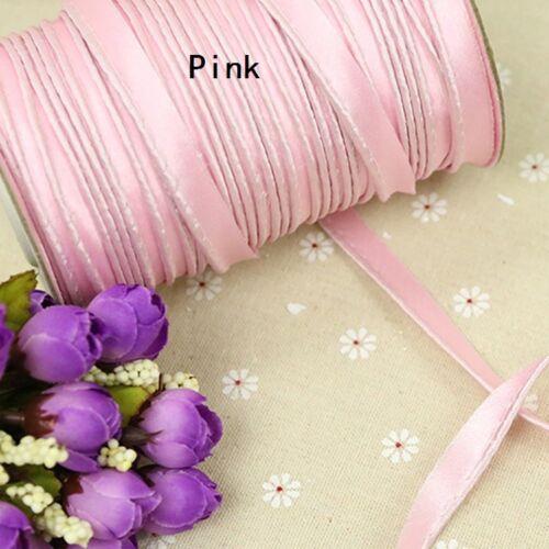 Insertion Cord Piping Liaison RUBAN SATIN à Rebord Corde à coudre tissu artisanat Multi