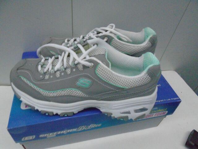 camuflaje Geometría profundizar  Skechers D'lites Life Saver 11860 Walking Shoes Women's Size 7 Gray/white  for sale online | eBay