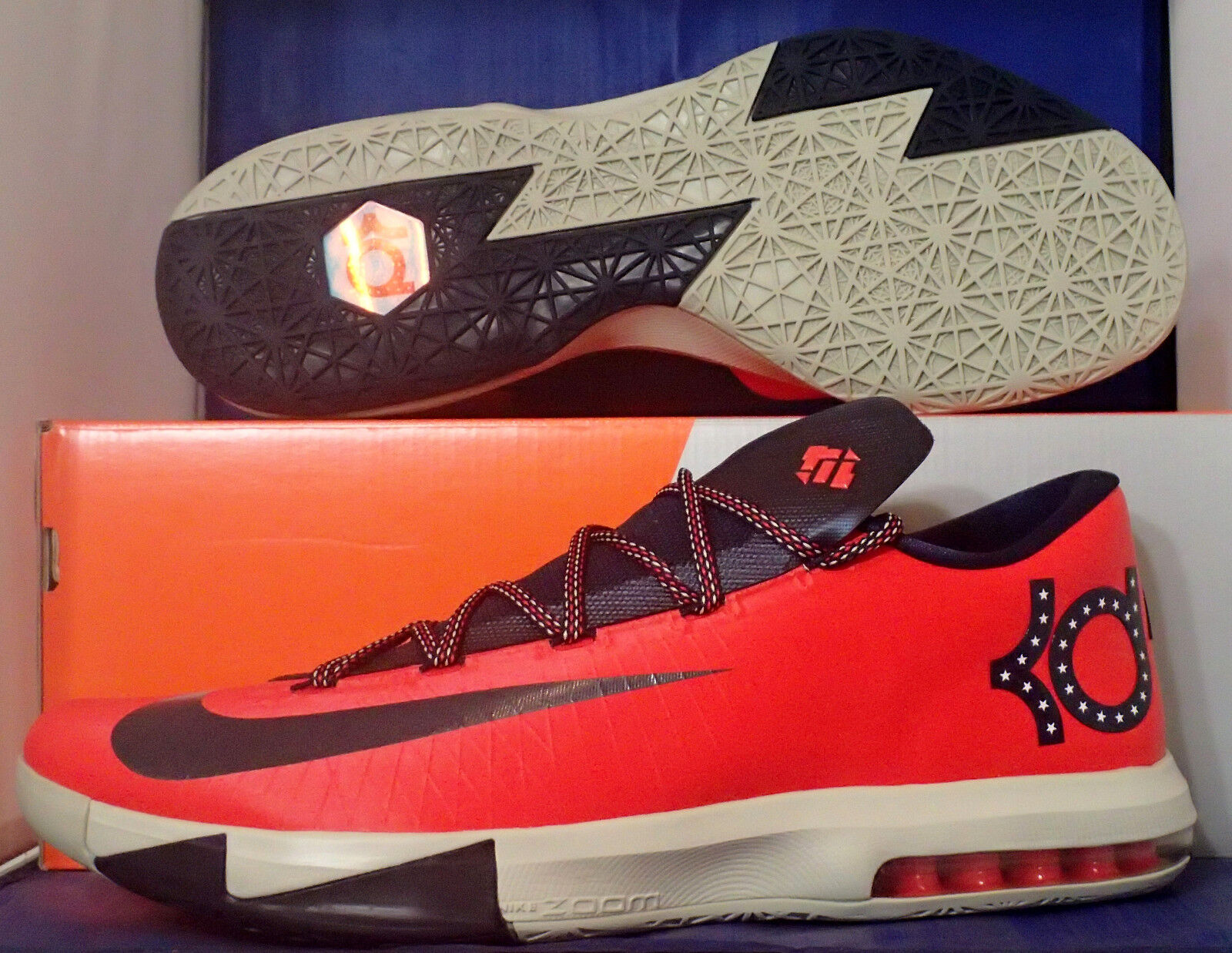 Nike kd vi 6 washington usa kevin durant sz 15 (599424-600)