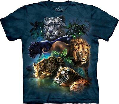 Grossi Gatti Jungle Grossi Gatti T Shirt Per Adulti Unisex The Mountain-mostra Il Titolo Originale