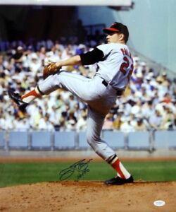 Jim-Palmer-Autographed-Blue-16x20-Orioles-Pitching-Photo-W-HOF-JSA-W-Auth