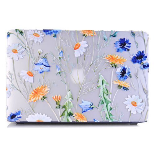 Matte Flower Design Print Hard Case Cover for Macbook Air Pro 13 and Retina