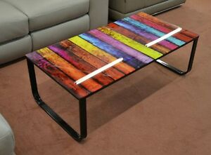 Contemporary Coffee Table Glass Top Furniture Small Modern Room