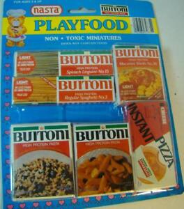 Vintage Buitoni Pasta Spaghetti Pizza Packages Play Food Playtime Toy Rare 27084728354 Ebay