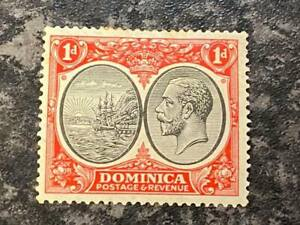 DOMINICA  POSTAGE & REVENUE STAMP SG73 1D MOUNTED MINT