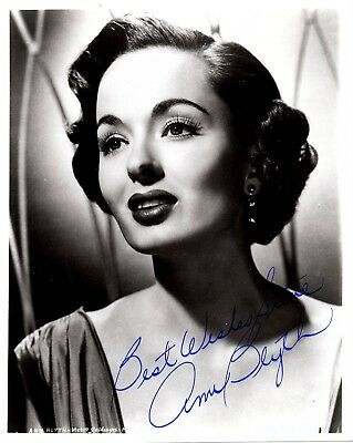 Television Sensible Ann Blyth Autographed Hand Signed 8x10 Photo W/coa Mildred Pierce
