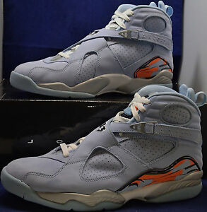 best loved 337bc 6c918 Details about Womens Nike Air Jordan 8 VIII Retro Ice Blue SZ 13 Mens US  11.5 (316836-401)