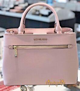 Image Is Loading Michael Kors Hailee Medium Satchel Saffiano Leather Bag