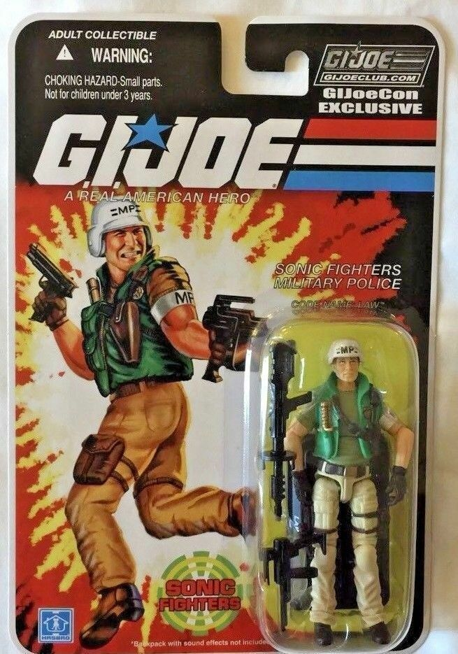 G.I. JOE Exclusive Convention 2018  Law-Sonic Fighters police militaire