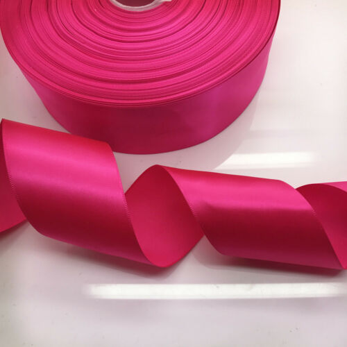5//10//20 Yards 50mm 2 inch Bow Ribbon Wedding Multi-purpose Crafts 20 Colors Pick