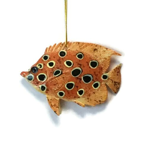 Caribbean Reef Orange and Black Tropical Fish Ornament 4 Inches 42