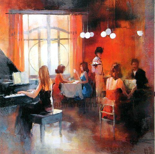 Willem Haenraets  Rendez-Vous i Barella-Immagine Schermo Bar Pianoforte Ballo