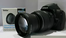 Nikon D5200 D3100 D3000 D5100 D5300 D7000 2.2x HD Telephoto Zoom Lens for 52MM