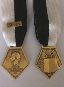 Medaille-de-la-liberation-de-METZ-1944-avec-barrette-et-ruban-Refrappe-qualite
