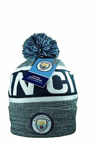 Image is loading Manchester-City-Beanie-Cap-Hat-Winter-Official-Authentic- 3c9187eb494