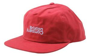 b5472949eb705 Brixton Mens Revert Snapback Hat Scarlet One Size New 999998098222 ...