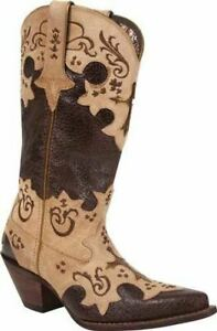 Durango-DCRD138-Womens-Chocolate-Tan-Leather-12-034-Western-Boots