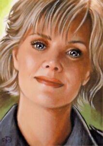 Details about ACEO Original ~ Samantha Sam Carter ~ Stargate SG1