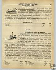 1942 PAPER AD Oliver Hay Mower Mowers Sulky Self Dump Hay Rake