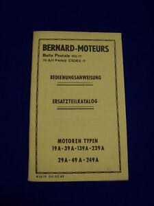 Original-Ersatzteilliste-Bedienungsanleitung-Bernards-Motoren-Raritaet