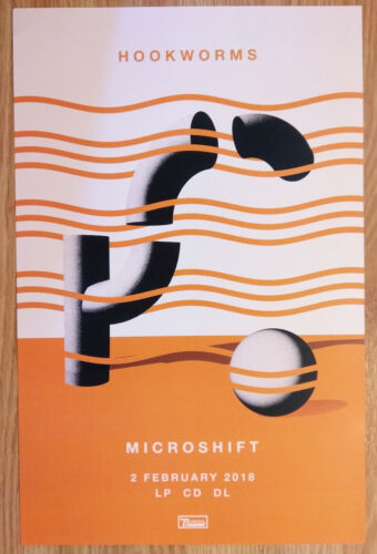 Music Poster Promo Hookworms Microshift
