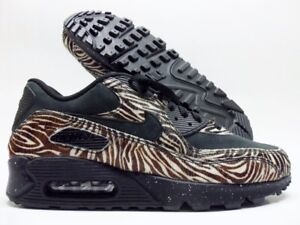 buy popular 9b005 58ba8 Image is loading NIKE-AIR-MAX-90-PREMIUM-ID-BLACK-BROWN-