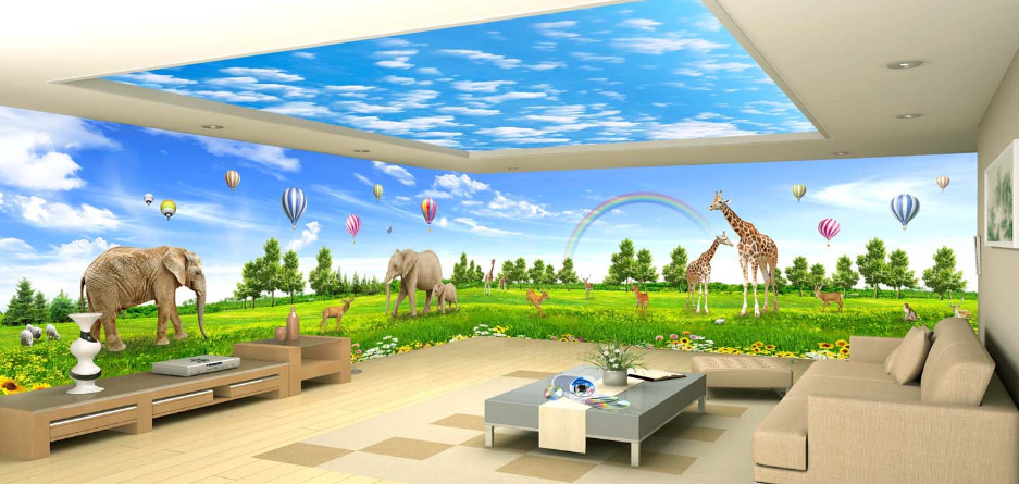 3D Bule Sky 657 Wallpaper Murals Wall Print Wallpaper Mural AJ WALL AU Kyra