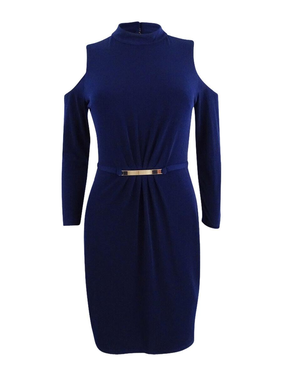 Jessica Simpson Women's Cold-Shoulder Sheath Dress