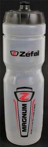 Zefal Magnum Clear 33oz 1L Bike Water Bottle BPA Free Dishwasher Safe Wide Mouth