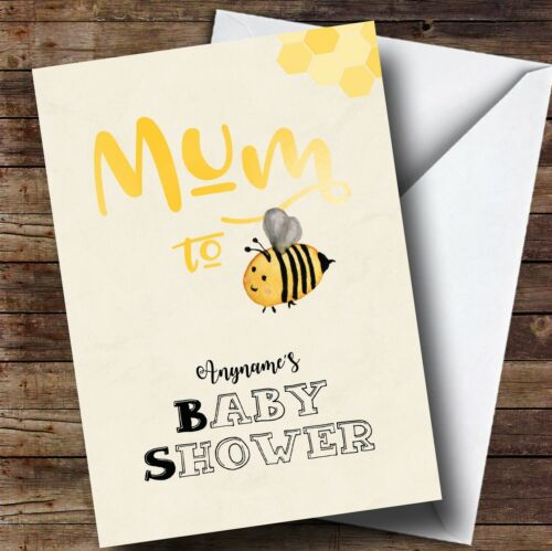 Personalised Mum To Bee Baby Shower Card