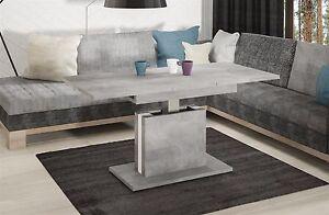 Das Bild Wird Geladen Couchtisch  Ausziehbar Hoehenverstellbar Beton Tisch Funktionstisch Wohnzimmer