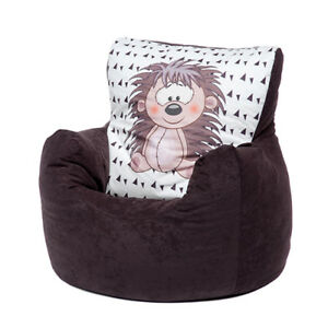 Cool Details About Brown Hedgehog Childrens Character Filled Beanbag Kids Bean Bag Chair Bedroom Pabps2019 Chair Design Images Pabps2019Com