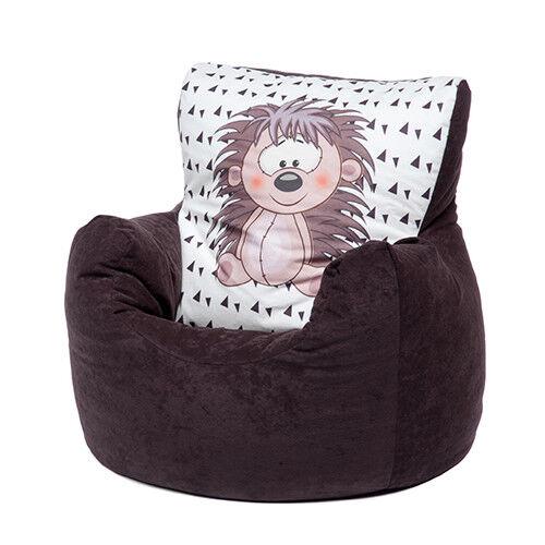 Brown Hedgehog Childrens Character Filled Beanbag Kids Bean Bag