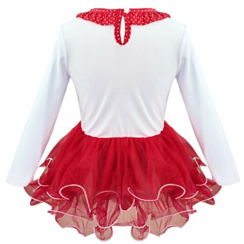 US Christmas Clothes Dress Toddler Kids Girls Santa Costume Party Cosplay Outfit