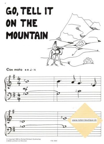Klavier Noten : KUM BA YAH Gospels sehr leicht Anfänger leicht Heumann