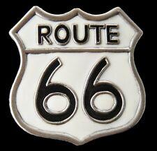 AMERICAN OLD ROUTE RT 66 AMERICA ROADS HIGHWAYS SIGN BELT BUCKLE BOUCLE CEINTURE