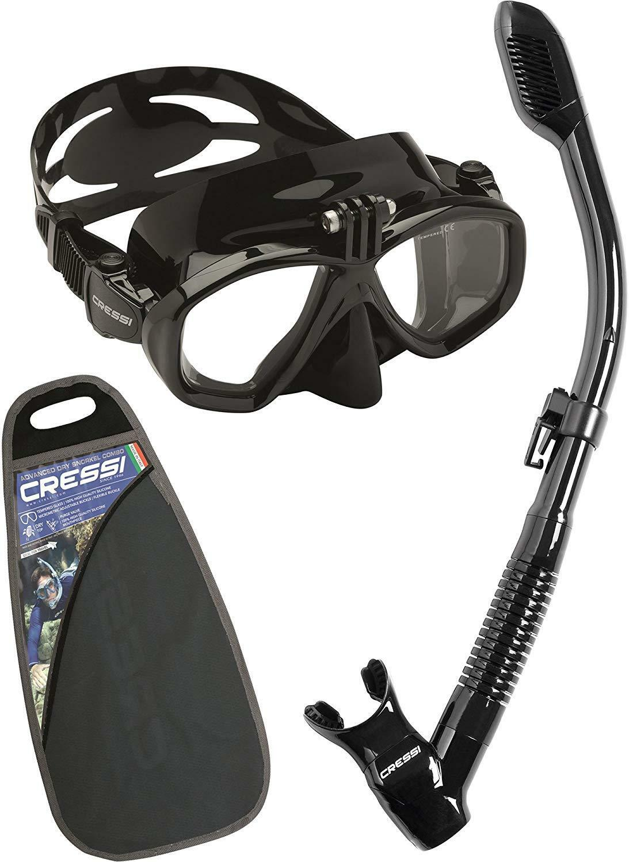 CRESSI azione Snorkeling Combo Set, Nero, Taglia unica