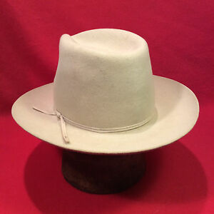 Silverbelly Stetson western 4X beaver Men s Hat w  silverbelly band ... 3421544e07f
