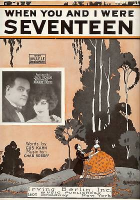 "Music The Best Vintage ""when You And I Were Seventeen""sheet Music,1924 Irving Berlin Publishing Do You Want To Buy Some Chinese Native Produce?"